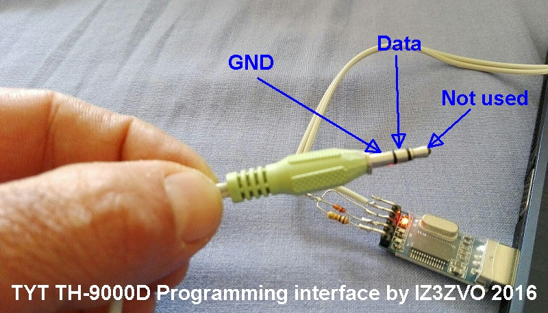 how to build a homebrew programming cable for a tyt th 9000d